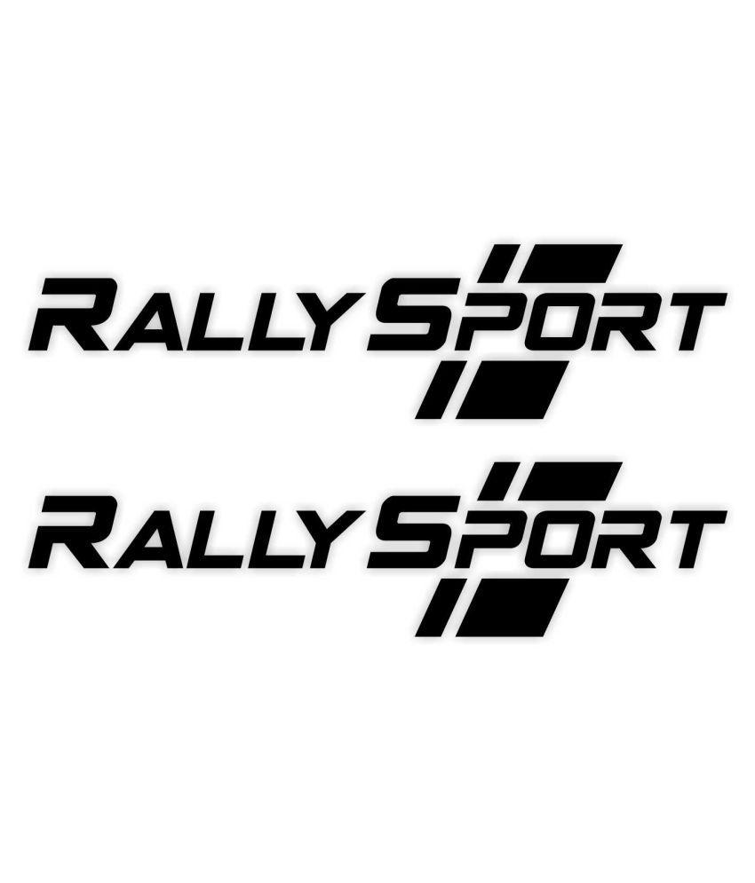 GeeTee Designs Sports & Racing In Car Sticker Black