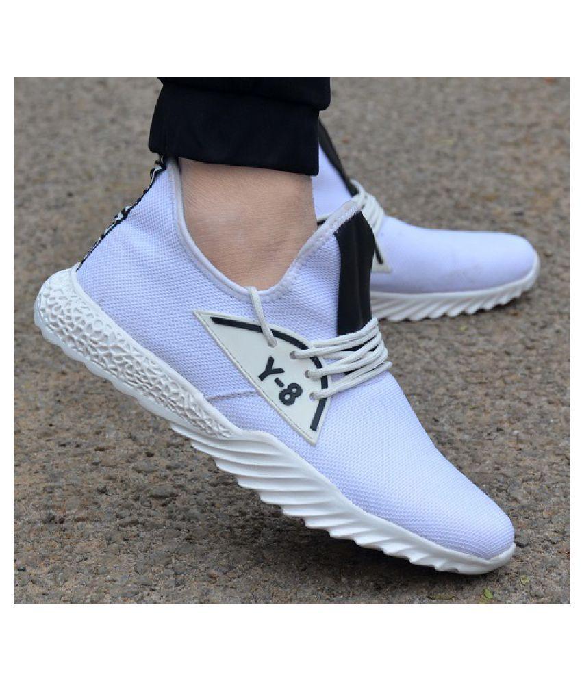 SHOEADDA Y8 White Running Shoes - Buy