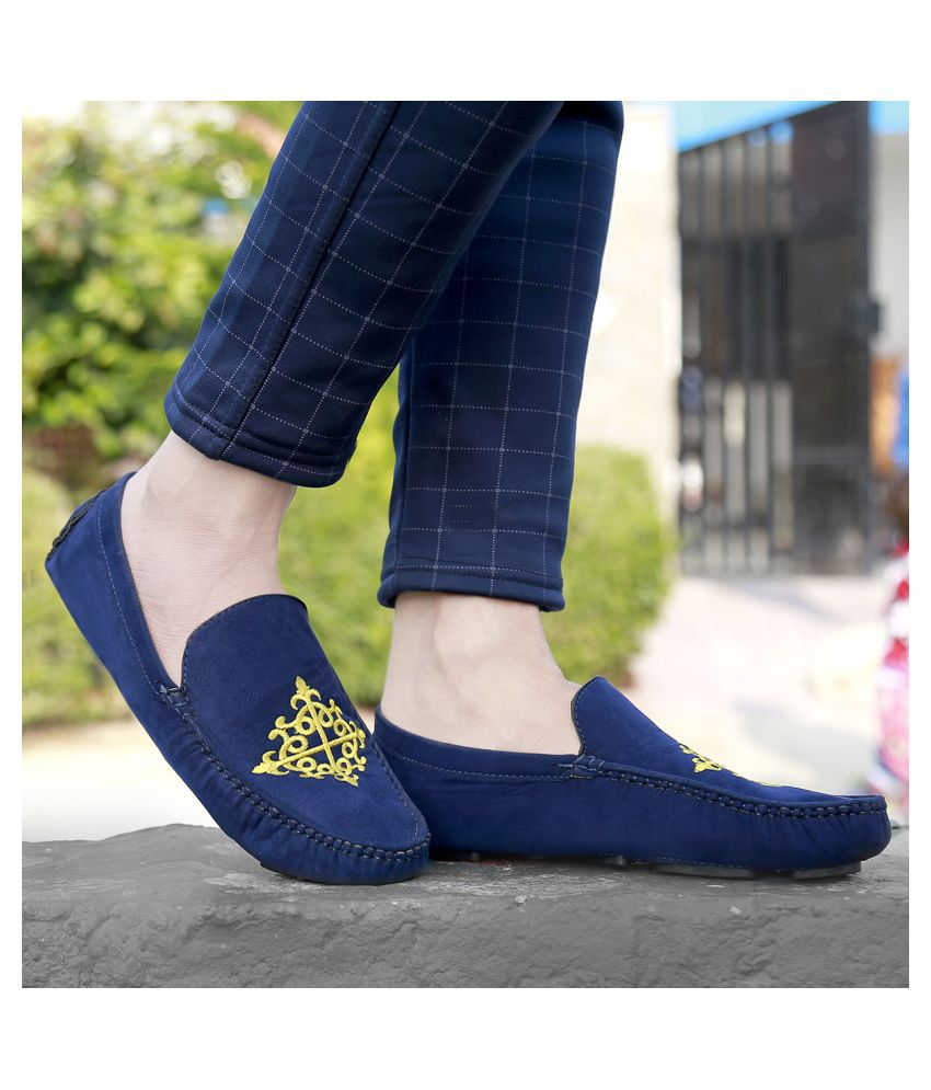 Global Rich Mules Blue Casual Shoes