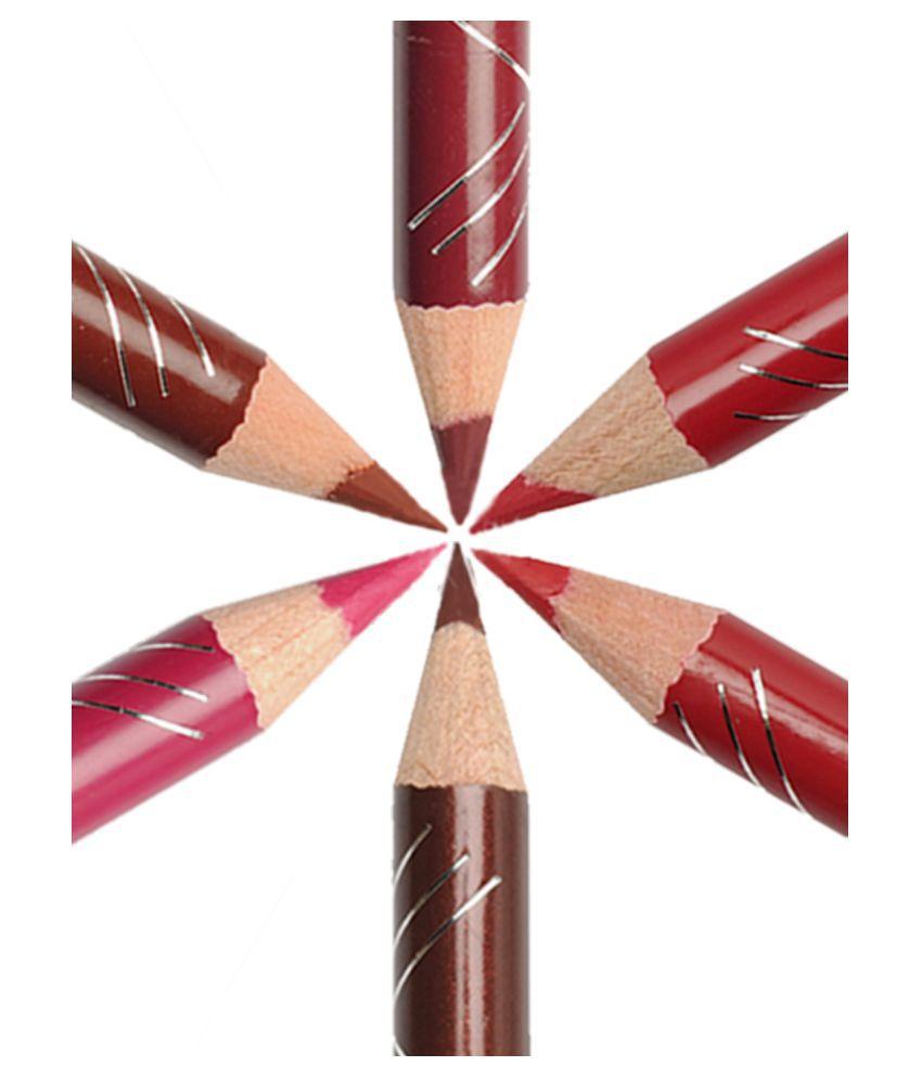 Incolor Lip Liner Pencil lip liner combo 02 Multi SPF 12 Pack of 6 1