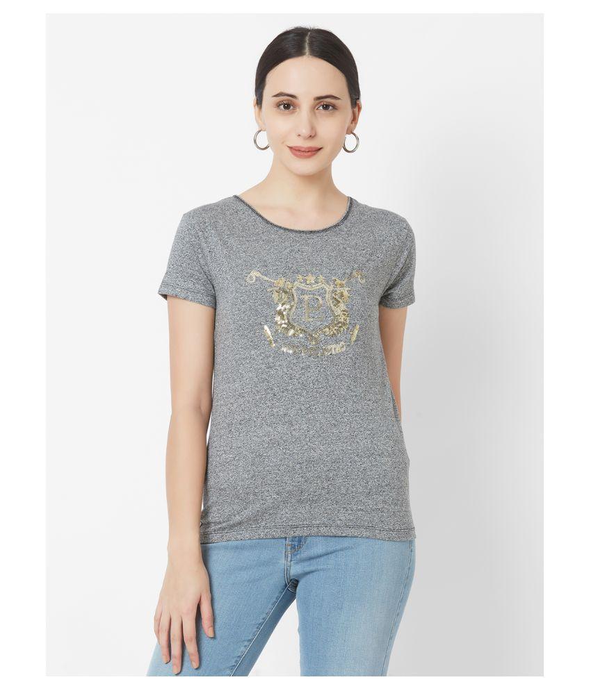 LOS POLISTAS Cotton Black T-Shirts