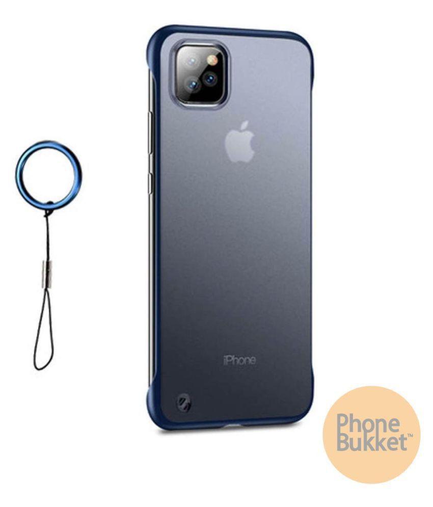 PhoneBukket UltraSlim Frameless Transparent TPU Hybrid Case for Apple iPhone 11 Pro Max (Blue)