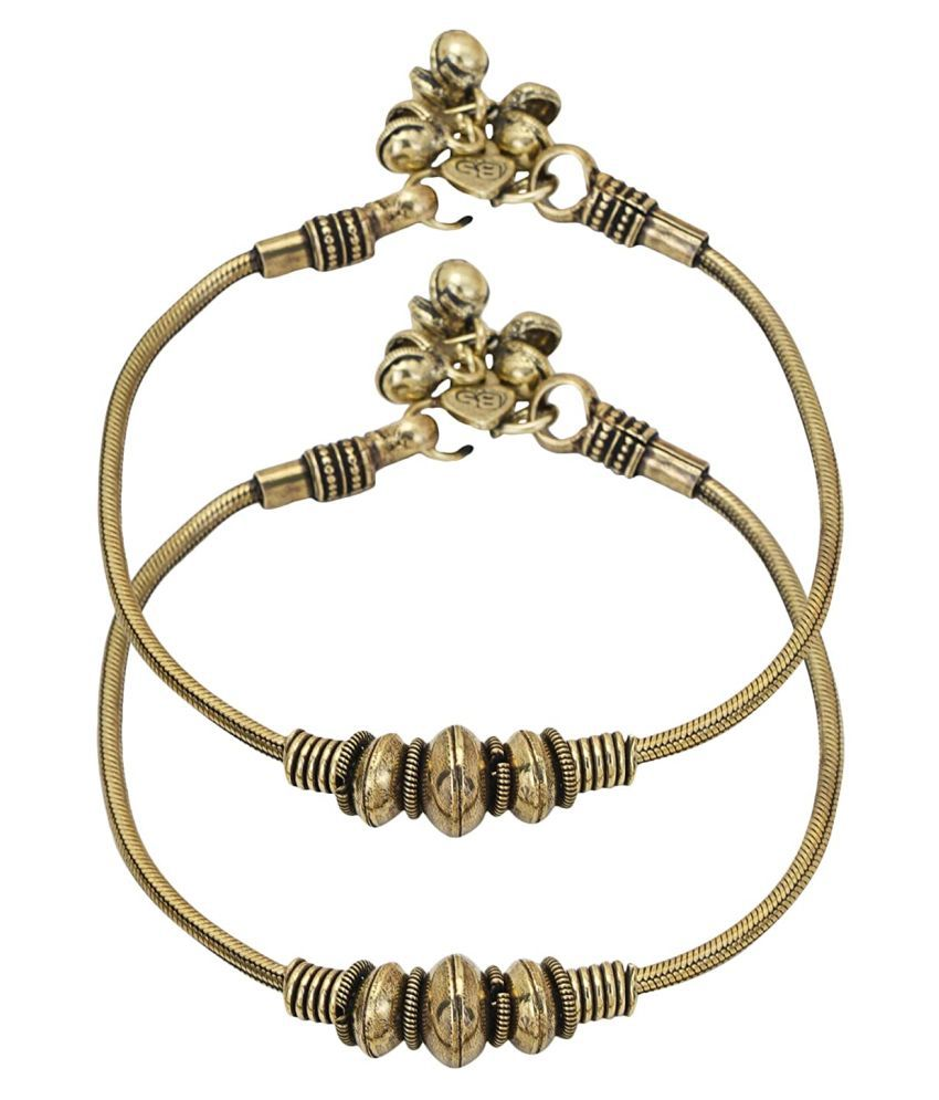 Doyen Creations Oxidized German Silver anklets/pajeb/payal for Women and Girls