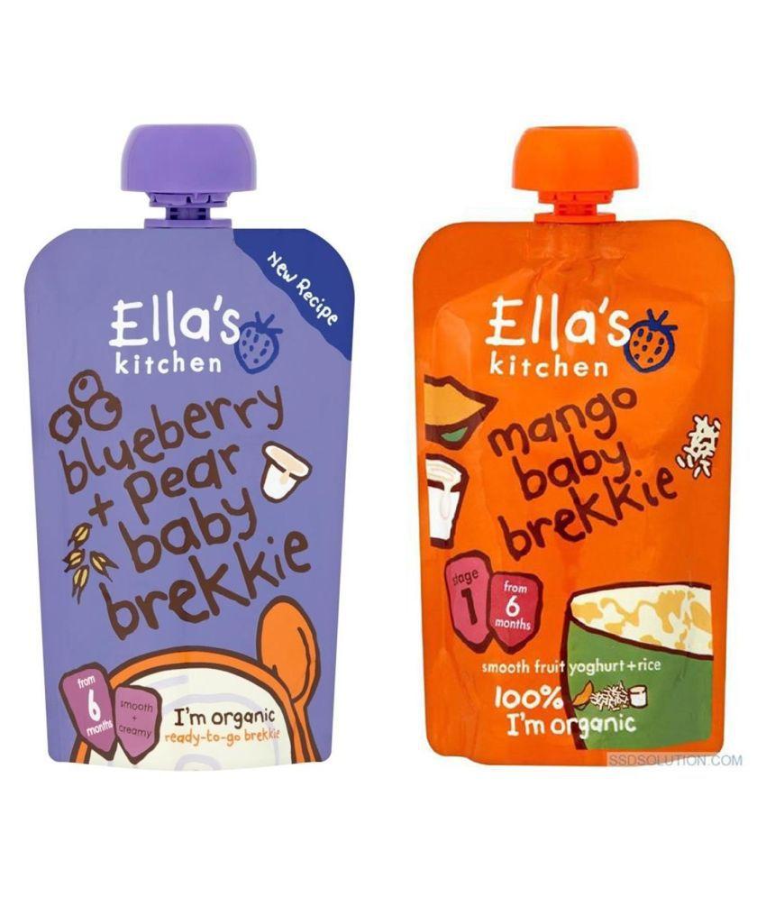 Ella's Kitchen Baby Brekkie Snack Foods for 6 Months + ( 240 gm ) Pack of 2