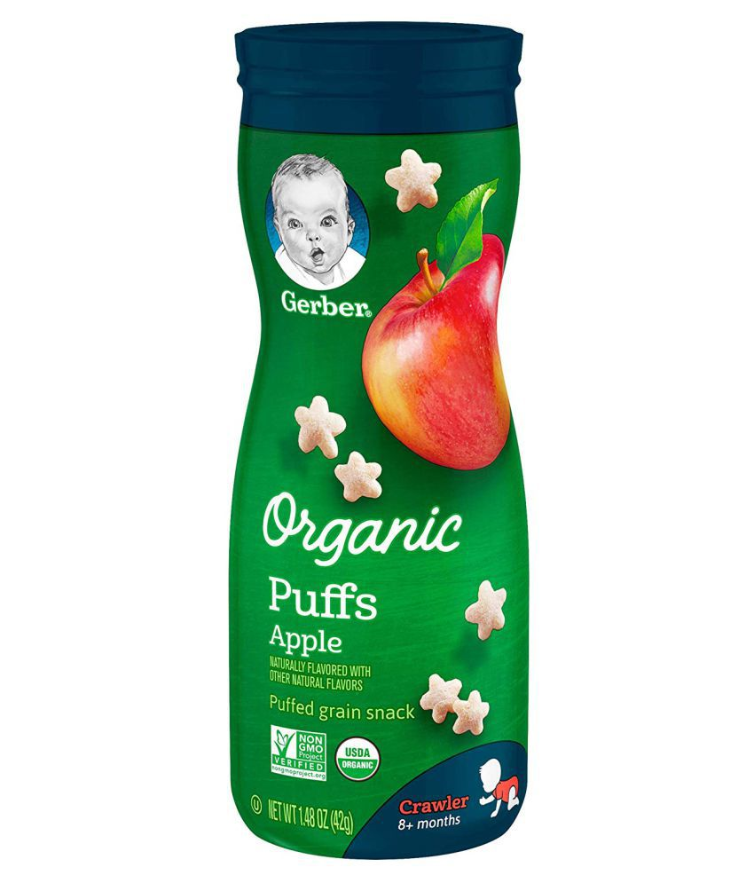 Gerber Apple Snack Foods for 12 Months + ( 84 gm ) Pack of 2