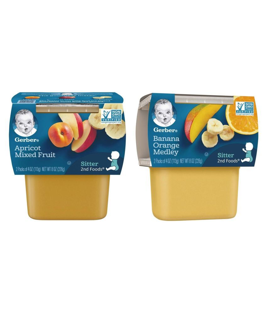 Gerber Apricot  Snack Foods for 6 Months + ( 452 gm ) Pack of 2