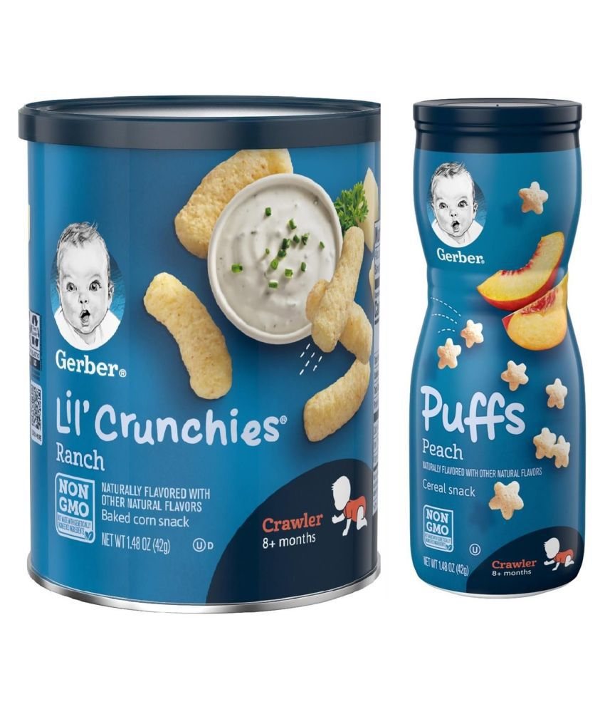 Gerber Ranch  Snack Foods for 12 Months + ( 84 gm ) Pack of 2