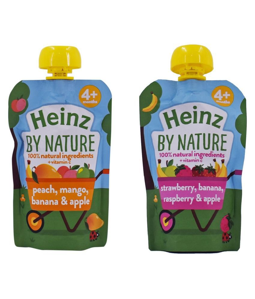 Heinz Peach Mango Banana Snack Foods for 6 Months + ( 200 gm ) Pack of 2