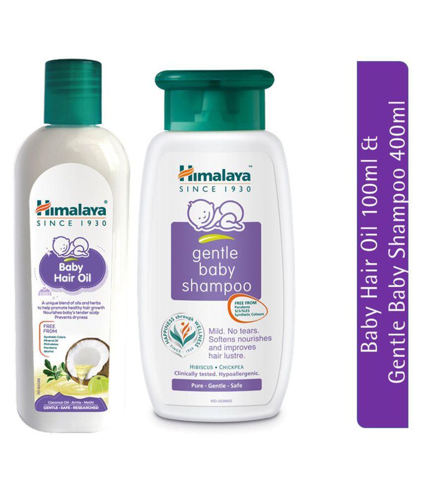 Himalaya Baby Hair Oil (100ml) & Himalaya Gentle Baby Shampoo (400ml) (Pack of 2)