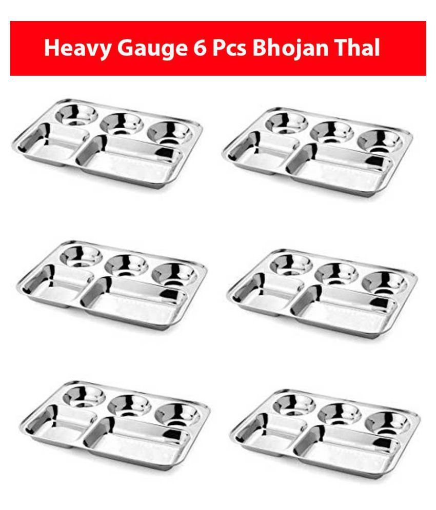 Rudra 6 Pcs Stainless Steel Partition Plate