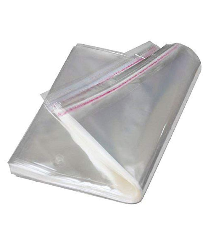 SJR Self Adhesive Multi purpose Bag  Transparent, 10×13 Inch  Pack of 200 Pieces