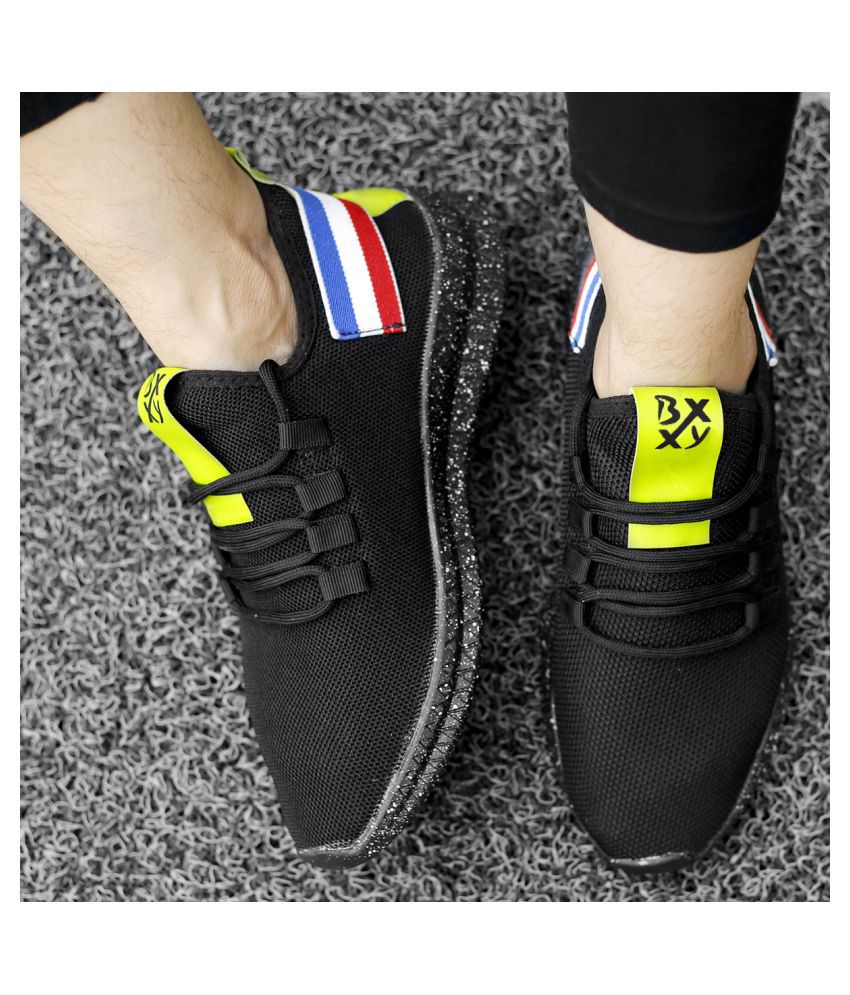 Global Rich Sneakers Black Casual Shoes