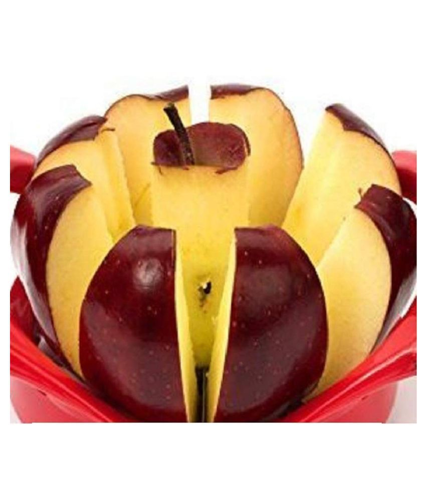 Apple Cutter with Push, Corer and Slicer with Stainless Steel Blade for Precision Cutting, Easy Grip and Great Value