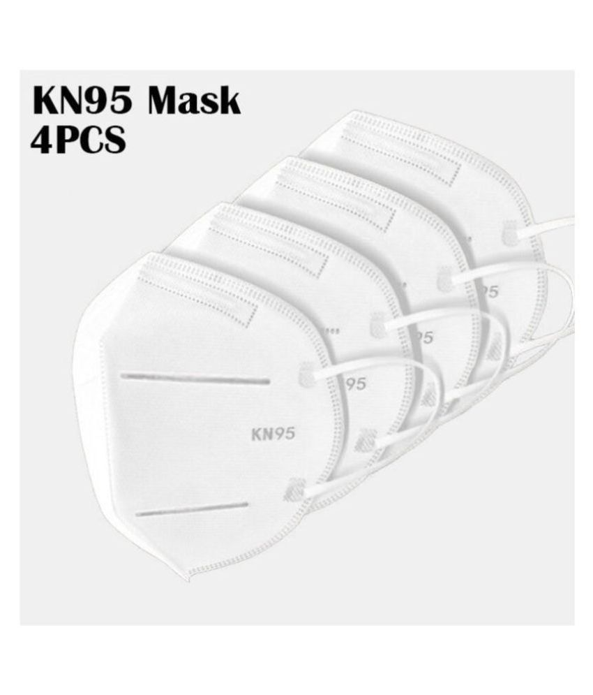 Green Apple International KN95 Reusable, Five Layer Washable,Anti-Pollution Facemask for Men & Women set of 4