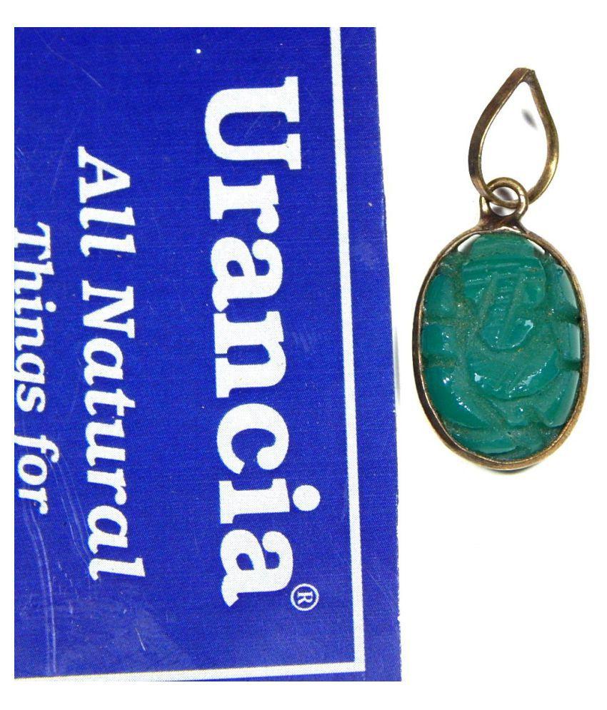 Urancia® Emerald Ganesh Panna Ganapati Pendant