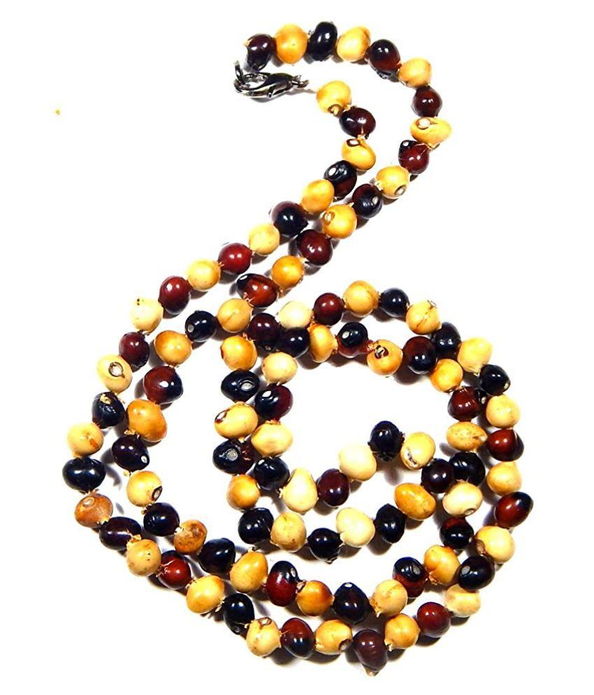 Urancia® Lal Safed Gunja Mala or Red & White Gunja for Home Puja 108 beads