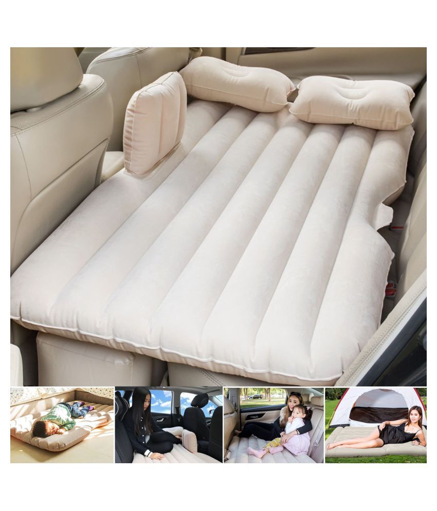 WAIT2SHOP Relaxing Travel Car Inflatable Bed car Mattress (Universal for Car)