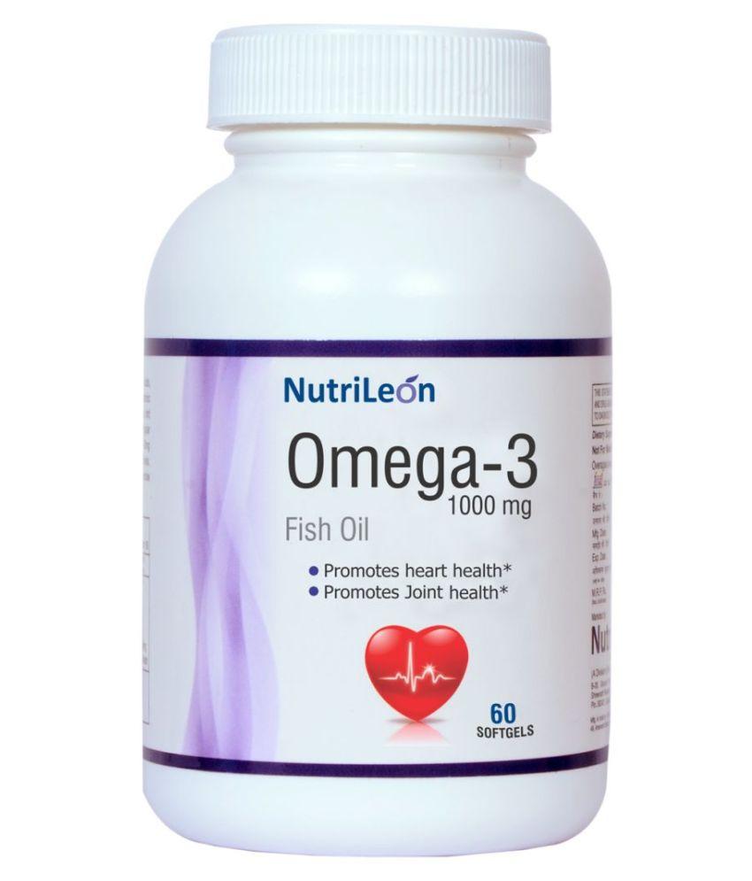 NutriLeon Omega 3 capsule Fish Oil Softgel 1000 mg
