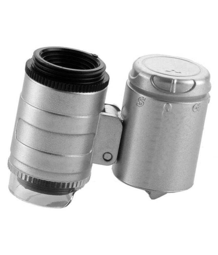 60X UV Money Checker LED Illuminated Magnifying Glass Magnifier Microscope