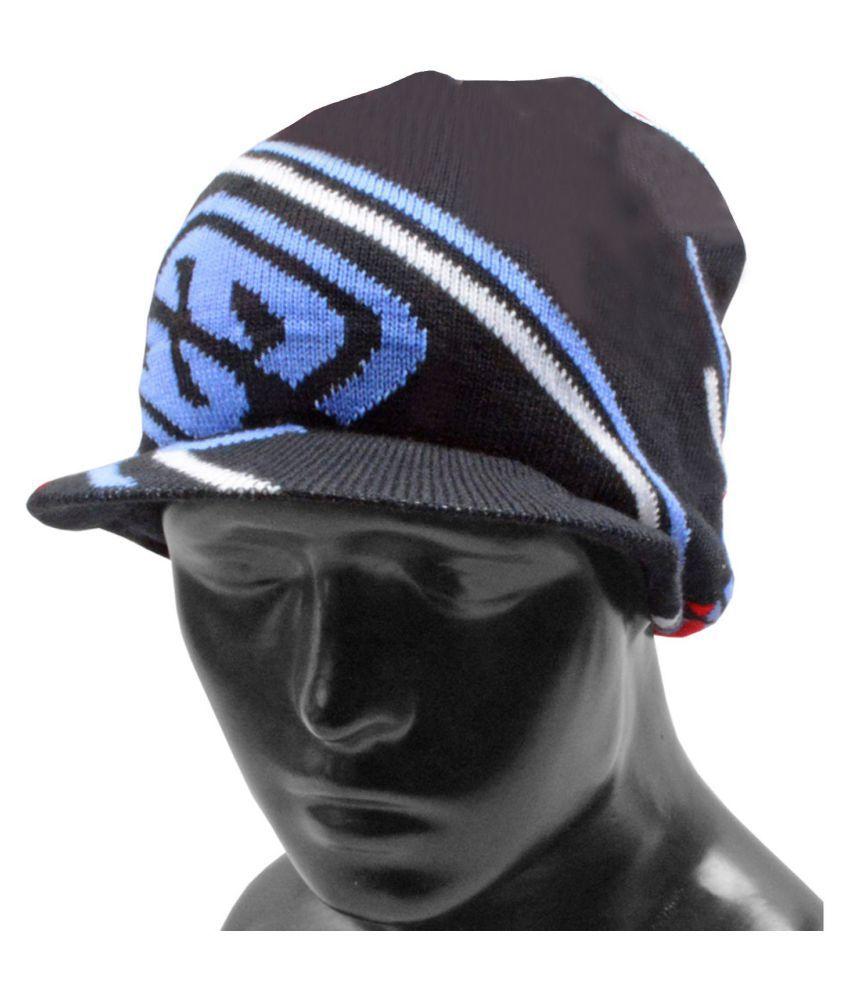 Jm Black Plain Wool Caps