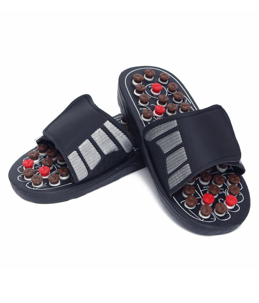 Jm 28CM Massager Slippers  Foot Care Shoes Massage Acupuncture Foot Care Reflex Pack Of 1