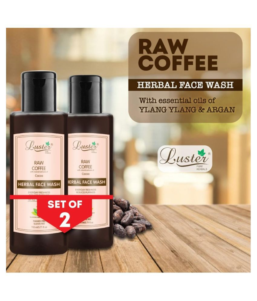 Luster Raw Coffee (Cocoa) Herbal Face Wash 110 mL Pack of 2