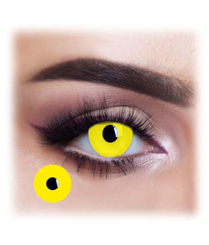 Siya Perfection Yellow Block Crazy Quarterly Disposable Color Lenses