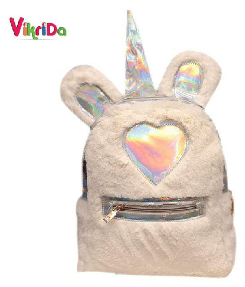 VikriDa White School Bag for Boys & Girls