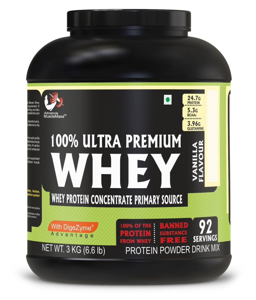 Advance MuscleMass Whey Protein Vanilla with Digestive Enzyme Blend 3 kg
