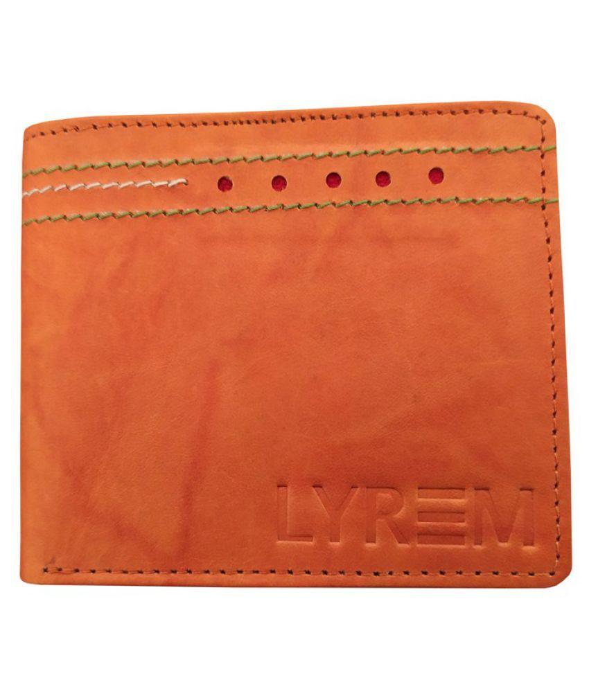 LYREM Leather Tan Casual Regular Wallet