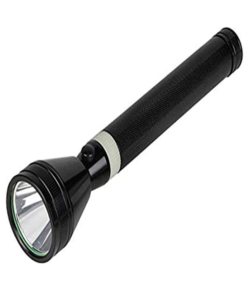 GA HIGH POWER RECHARGEABLE TORCH LIGHT FLASHLIGHT-PACK OF 1 9W Flashlight Torch - Pack of 1