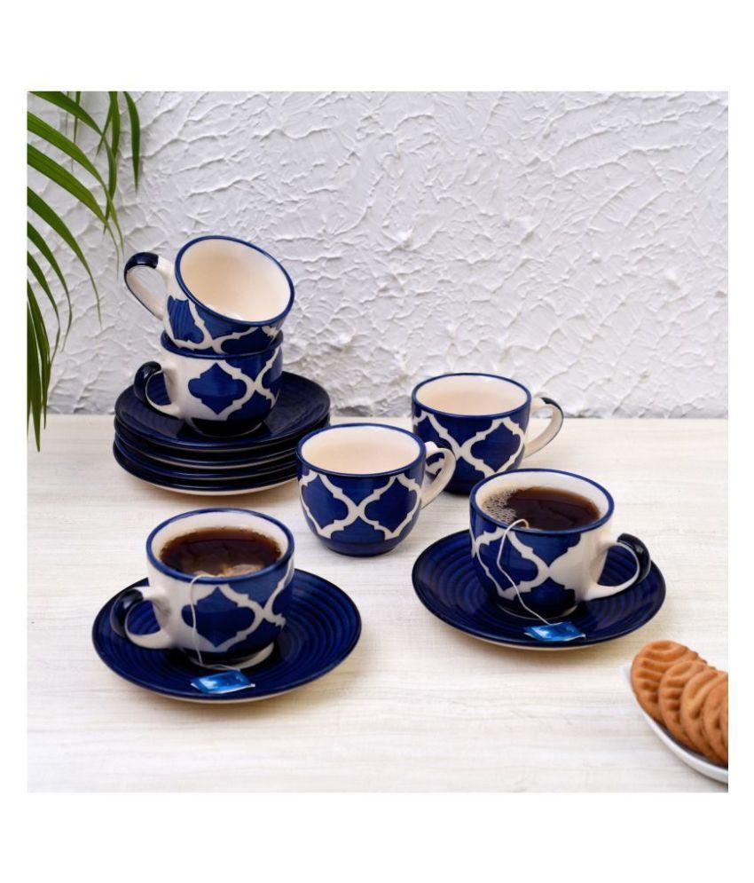 Indian Crafties Ceramic Tea Cup 12 Pcs ml