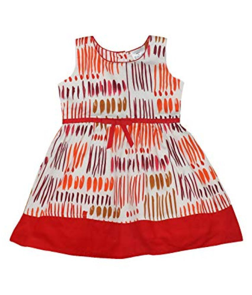 Girls Doodle A-Line Cotton Sleeveless Dress