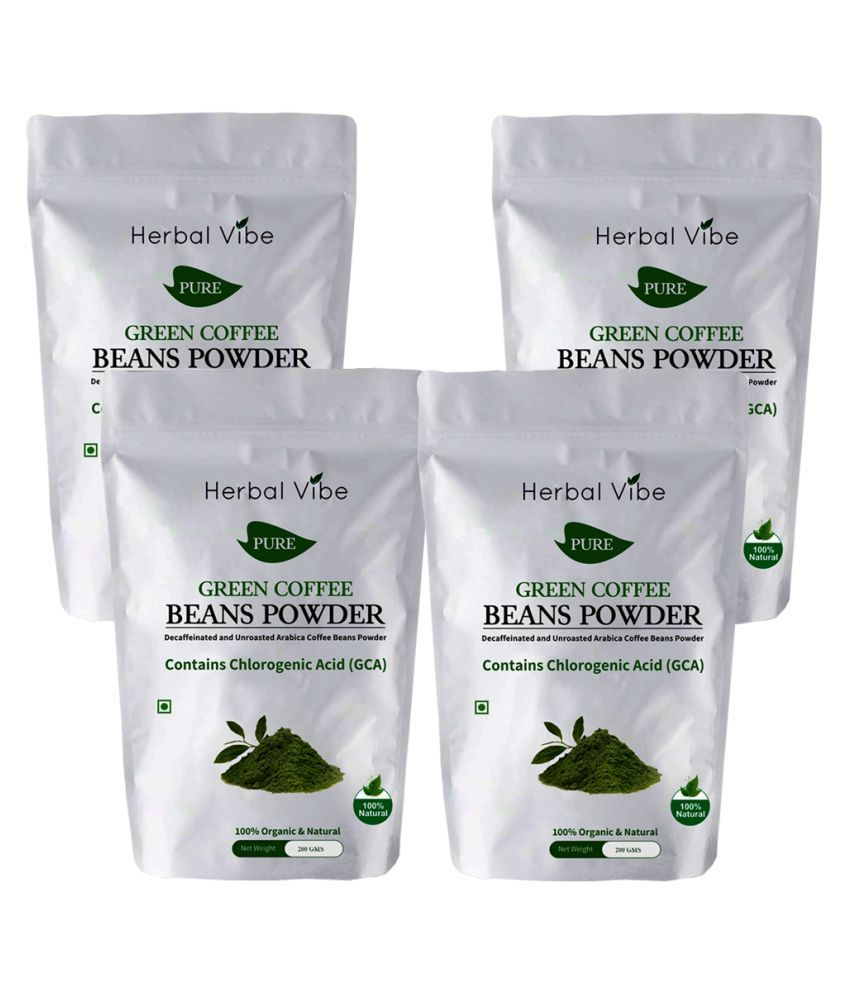 Herbal Vibe green coffee 4 gm Natural Pack of 4