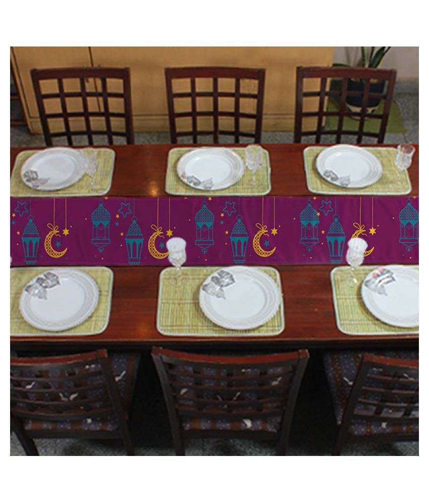 Right Gifting 6 Seater Polyester Single Table Runner