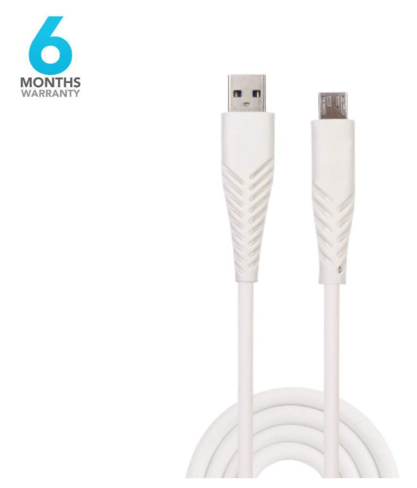 Fuego USB Data Cable White   1.2 Meter