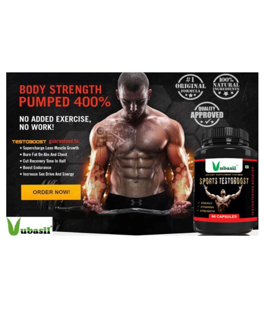 VUBASIL Testosterone Booster (60 Caps) 800 mg Vitamins Capsule: Buy VUBASIL Testosterone Booster