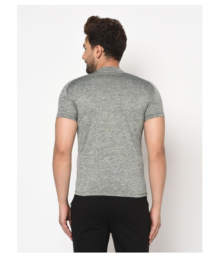 V2 Cotton Viscose Grey Solids T-Shirt
