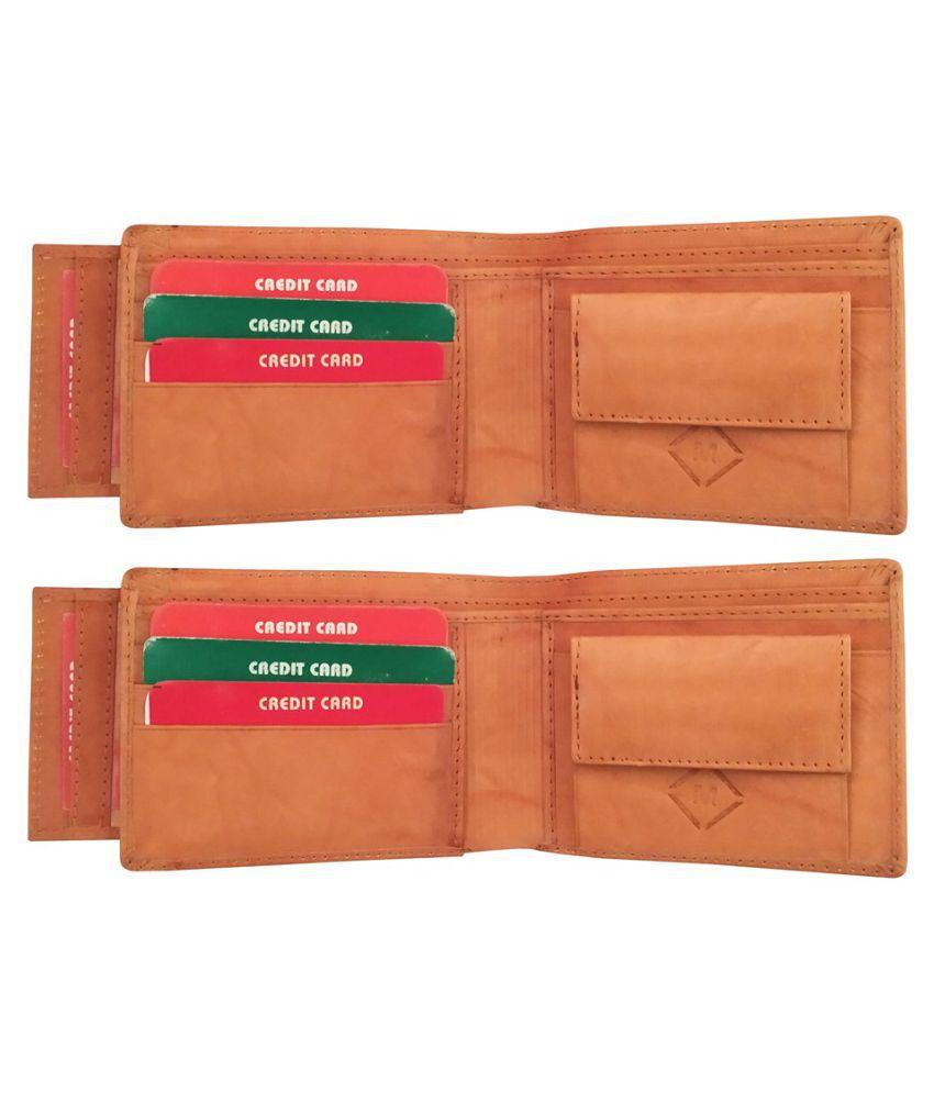 MEXUS Leather Tan Sport Regular Wallet