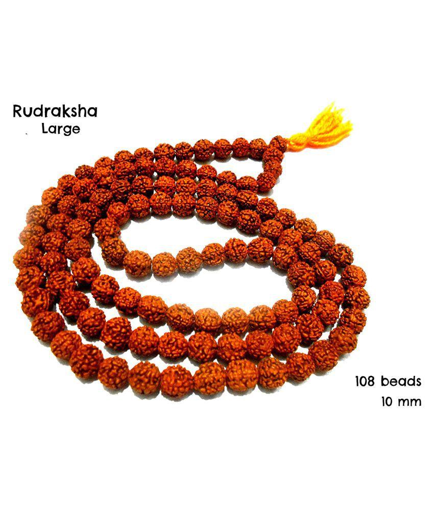 Rudraksha mala Jaap Organic Jewellery Mala 100% 10mm 108 Beads for Pooja/Organic Jewellery Making Beads