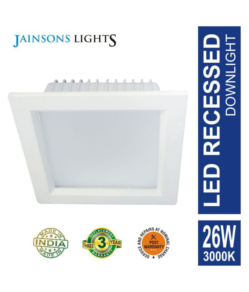 Jainsons Lights 26W Square Ceiling Light 15.8 cms. - Pack of 1