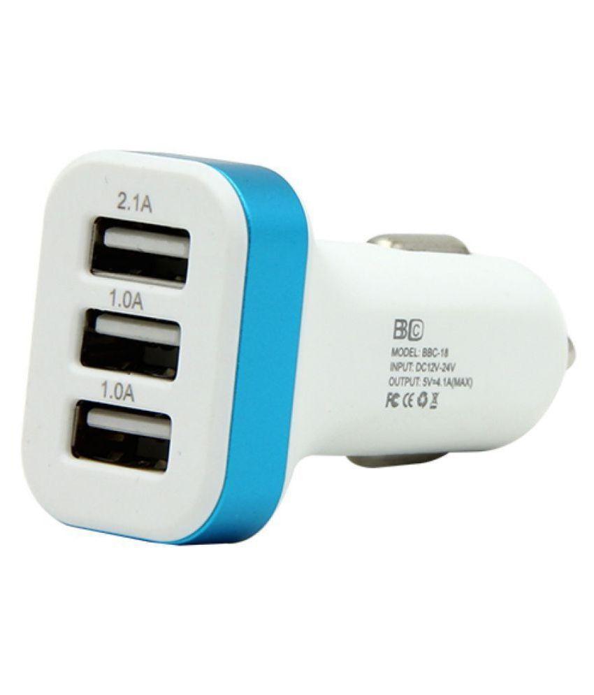 delhideals Car Mobile Charger 3 USB PORT Assorted