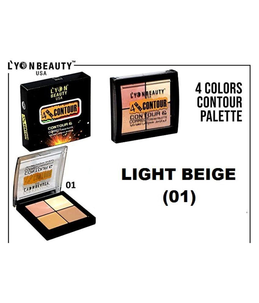 Lyon Beauty 4-Colors- Contour Kit(free kajal) Contour Kit