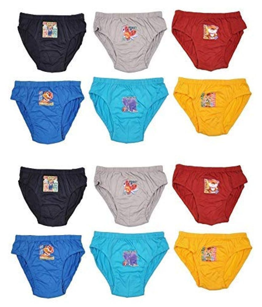 CHILDZONE Kids Brief/Boys Underwear/Baby Panties,100% Cotton, Inner  Elastic, Multi-Coloured,Black/Red/Blue/Yellow/Grey, 5-6 Years, 70 cm, Pack  of 12 - Buy CHILDZONE Kids Brief/Boys Underwear/Baby Panties,100% Cotton,  Inner Elastic, Multi-Coloured,Black ...
