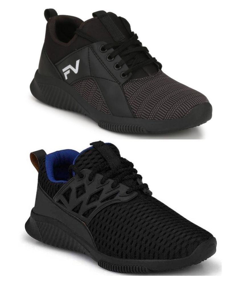 Fashion Victim Black Casual Shoe Combo