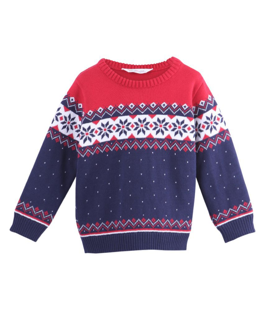 Christmas Sweater Navy 7-8Y