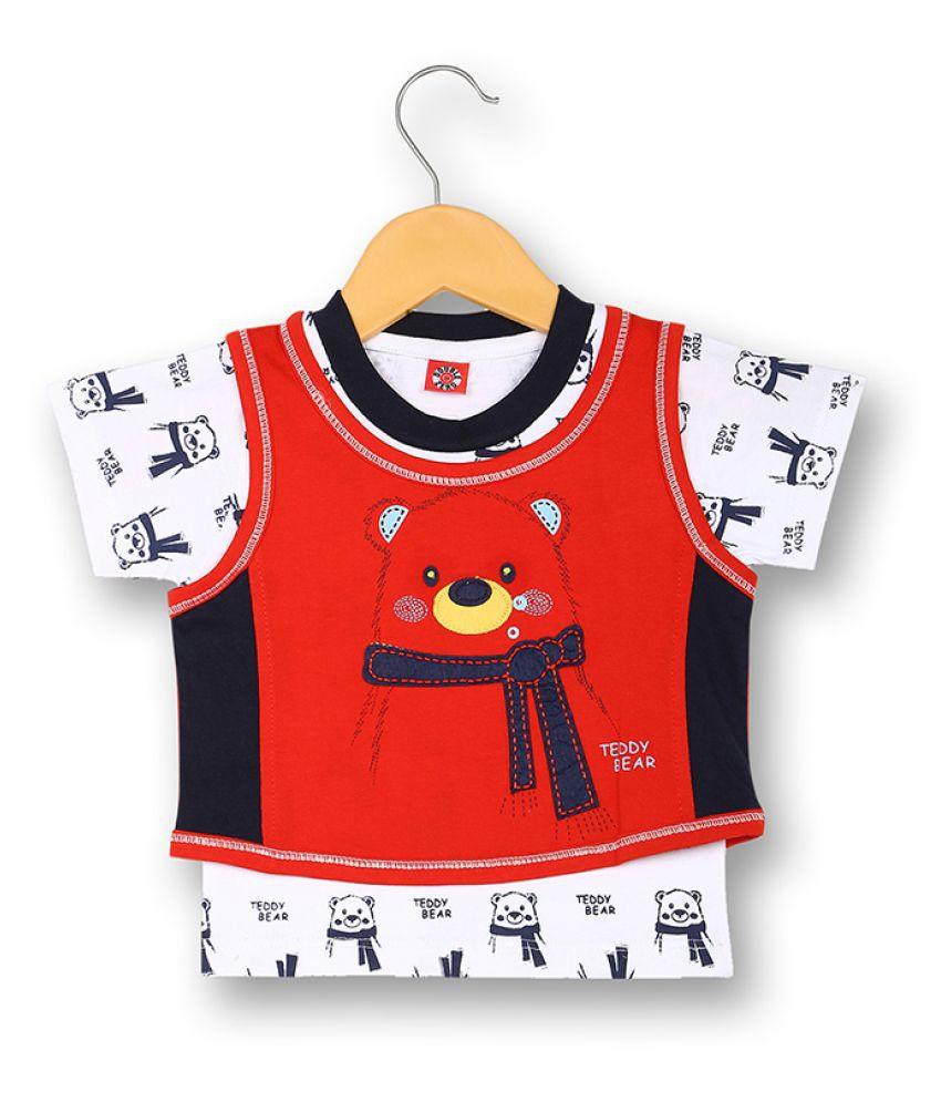 V2 Infant Boy Baba Suit Set (Red)