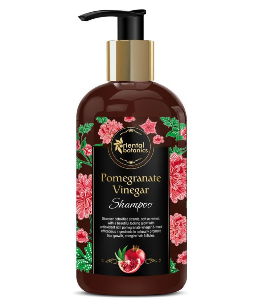 Oriental Botanics Pomegranate Vinegar Shampoo - For Healthy, Strong Hair with Argan Oil Shampoo 300 mL
