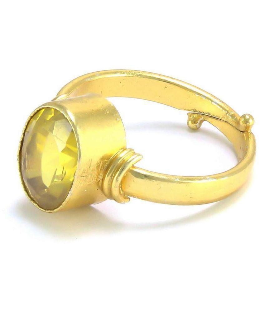 4.25 Ratti Natural Yellow Sapphire Pukhraj Guru Ring for Men and Women