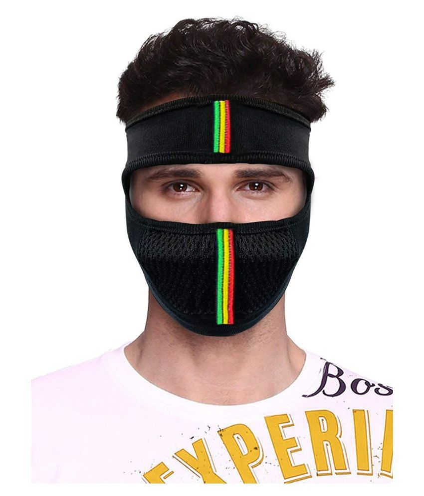 9Lives Bike Riding & Cycling Anti Pollution Dust Sun Protection Half Ninja Face Cover Mask Black